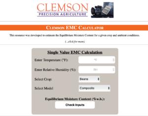 equilibrium moisture content calculator